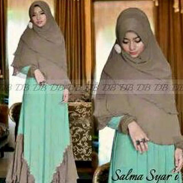 Salma syari / hijab syar'i gamis cantik murah baju pengajian jilbaber