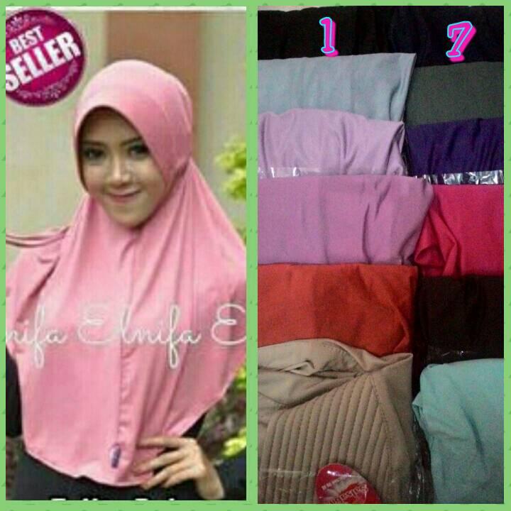 kerudung/jilbab/hijab instan serut belakang bahan bagus
