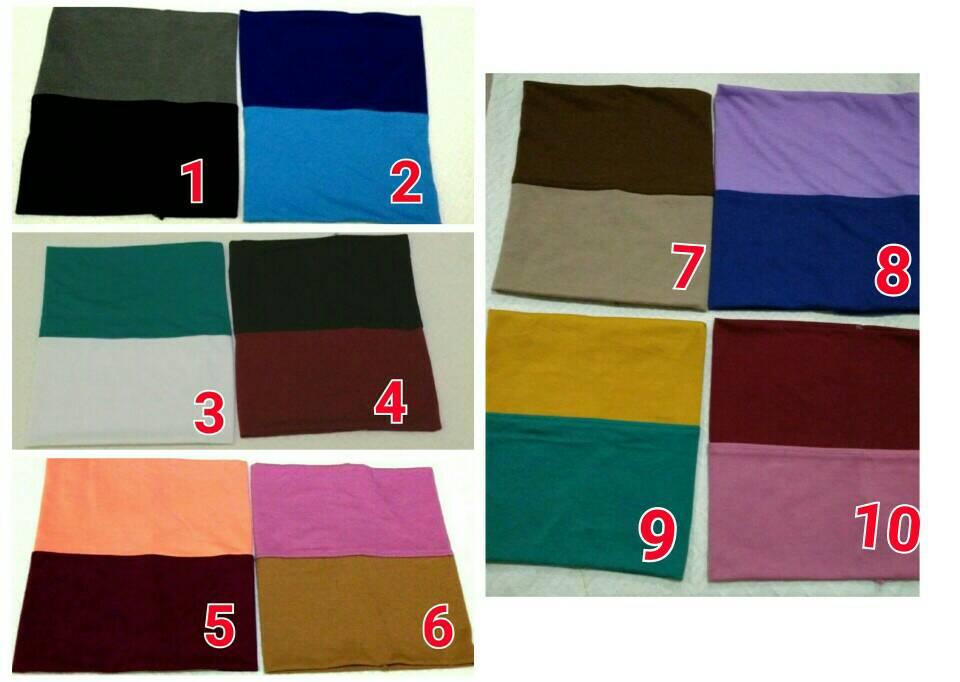 Ciput Kaos Dua 2 Warna Murah Hijab