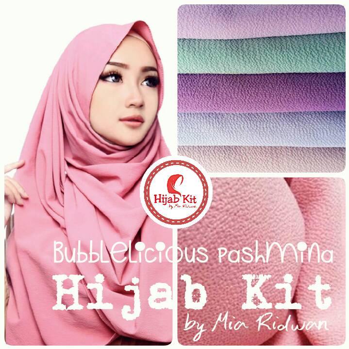 *NEW ARRIVALS* Hijab Kit Bubble Pop Pashmina
