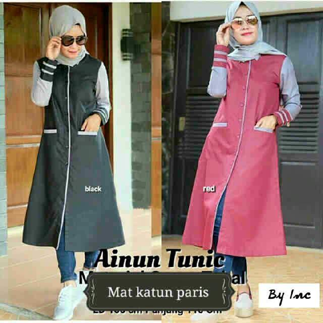 Ainun tunic / tunik saku / hijab terbaru / pakaian muslim /