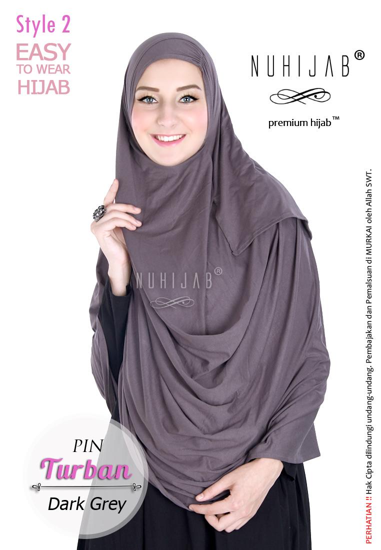 Jilbab Panjang Syari Pashmina Instan Hijab Praktis Nuhijab PIN Turban
