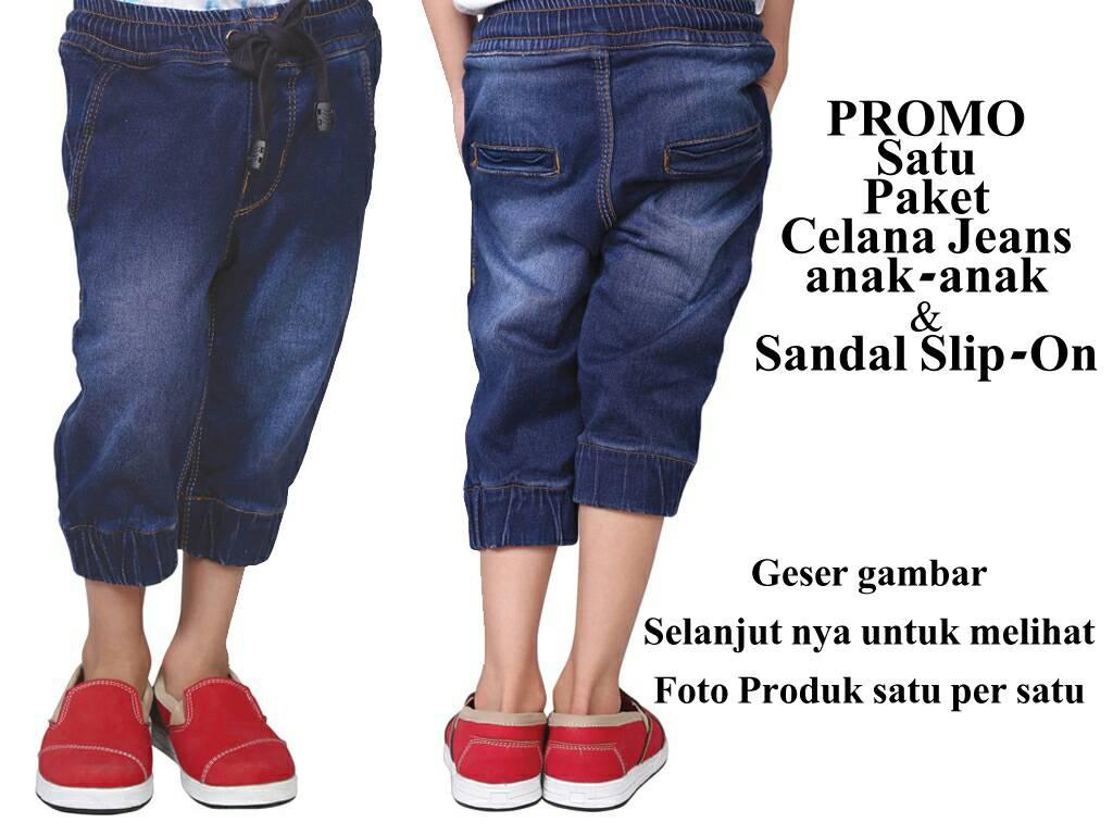 PROMO | Satu Set Celana Jeans Levis & Slip-On Anak-anak | Original CJR