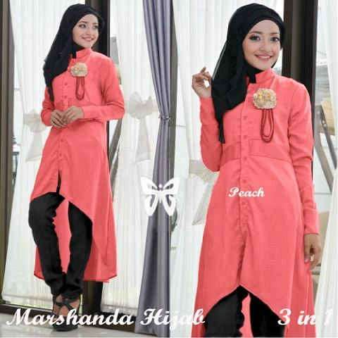 Marshanda Hijab peach