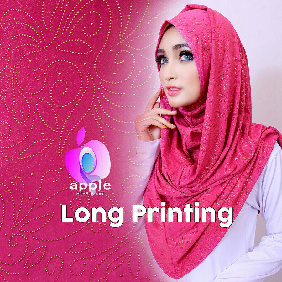 Long Printing By Apple Hijab Brand