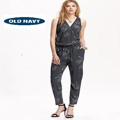 Old Navy Big Size Jumbo Flower Jumpsuit L XL XXL