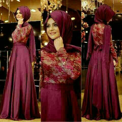 Hijab Madevran marun
