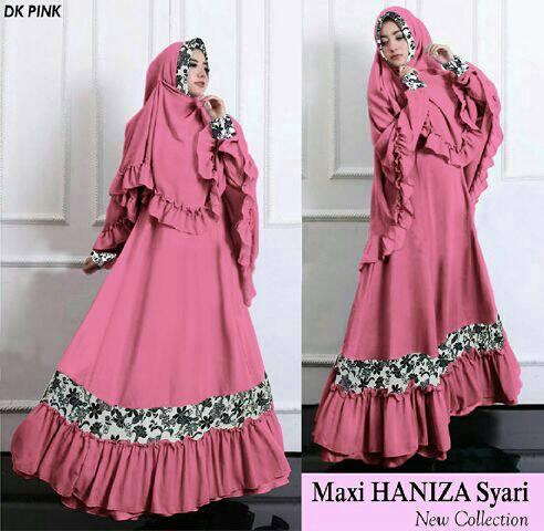 hijab gamis maxi haniza syar'i baju muslim