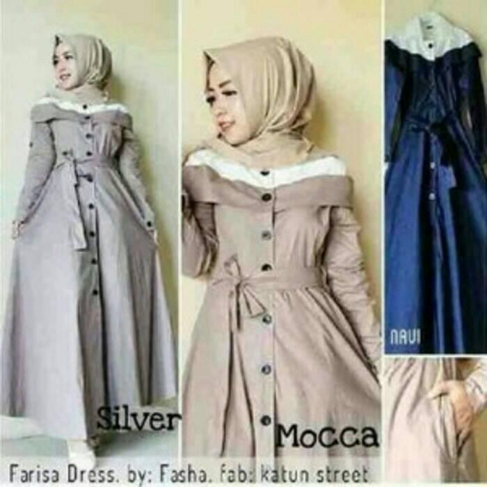Gudang Fashion Gudang Fashion Kemeja Koko Panjang Terbaru Hijau Lumut Source Farisa dress .