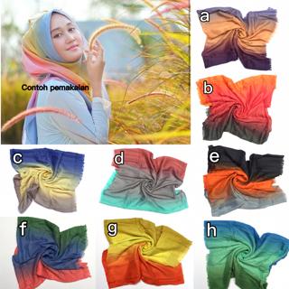 hijab kerudung segi 4 rainbow