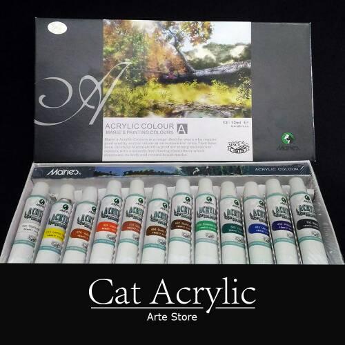 Cat Acrylic Set 12 Warna