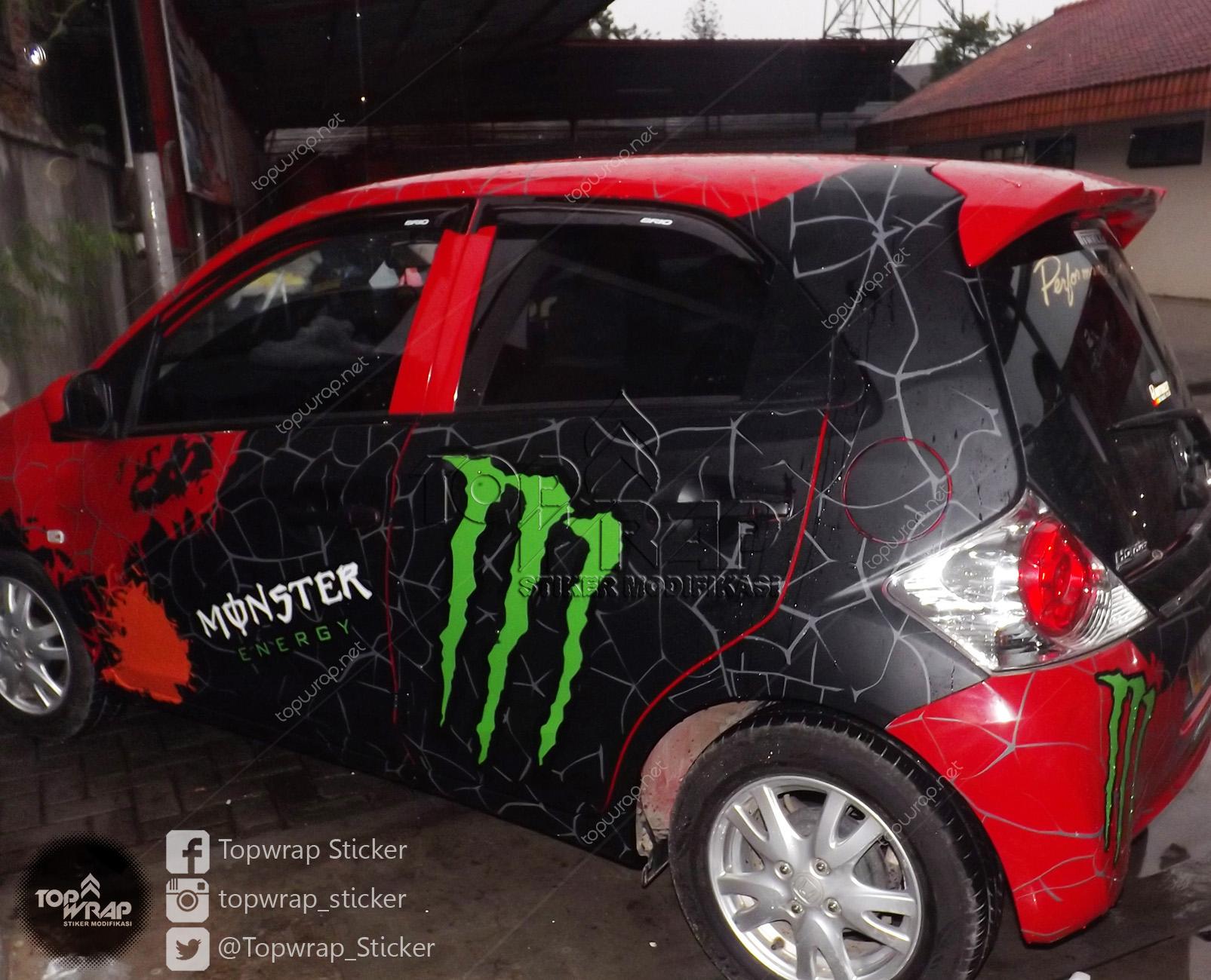 Foto Modifikasi Terkeren Striping ala Monster Energi 2015