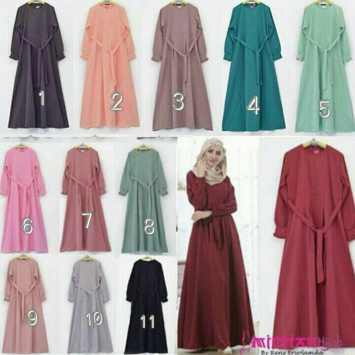 Dress Maxi Wolpeach Hijab Fashion