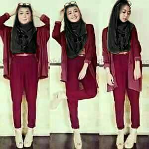 vanessa 4in1 hijab maroon