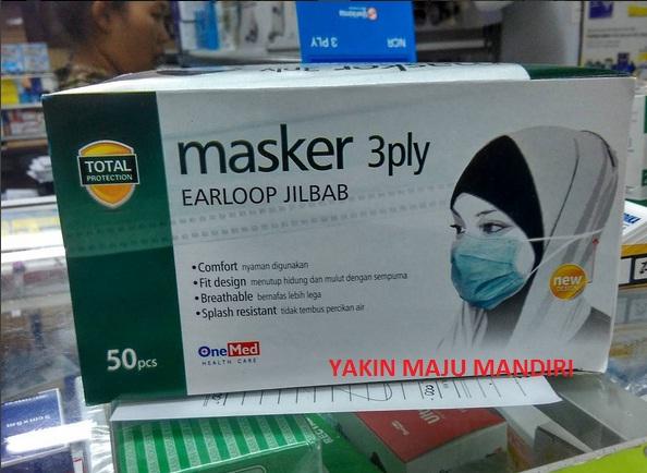 Masker 3ply Earloop jilbab / Masker Hijab