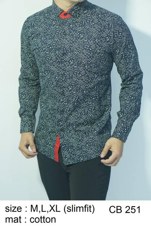 Baju Batik Kemeja Pria Slimfit CB 251 - Slim Fit Keren