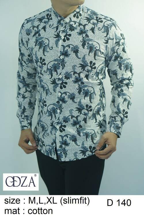 Baju Batik Kemeja Pria Slimfit D 140 - Slim Fit Keren