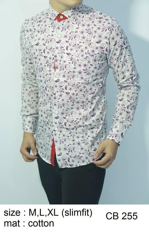 Baju Batik Kemeja Pria Slimfit CB 255 - Slim Fit Keren