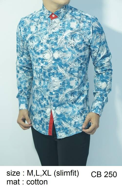 Baju Batik Kemeja Pria Slimfit CB 250 - Slim Fit Keren