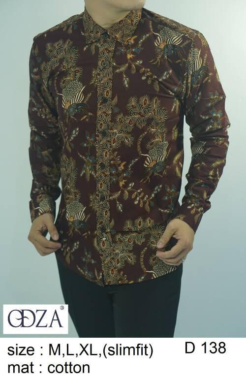 Baju Batik Kemeja Pria Slimfit D 138 - Slim Fit Keren