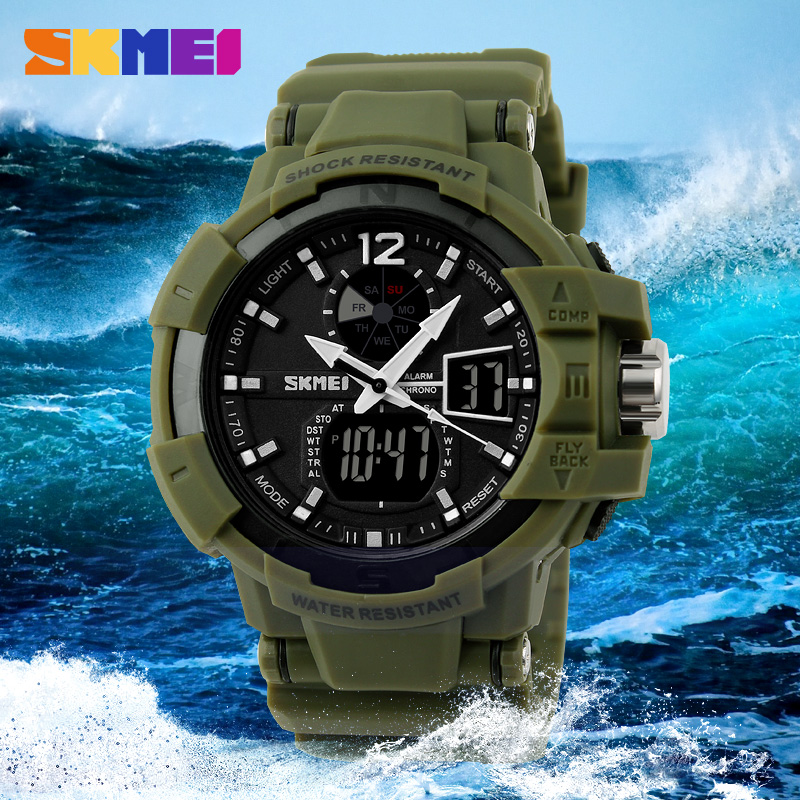 SKMEI Military Men Sport LED Watch Water Resistant 50m - AD1040 ORI