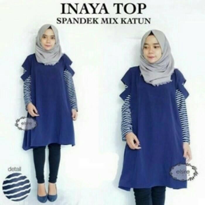 Inaya Top / hijab model terbaru / atasan cewek / blus murah /