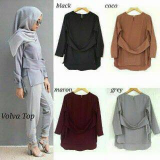 Volva Top / blus / blouse / hijab grosiran murah / baju kantor