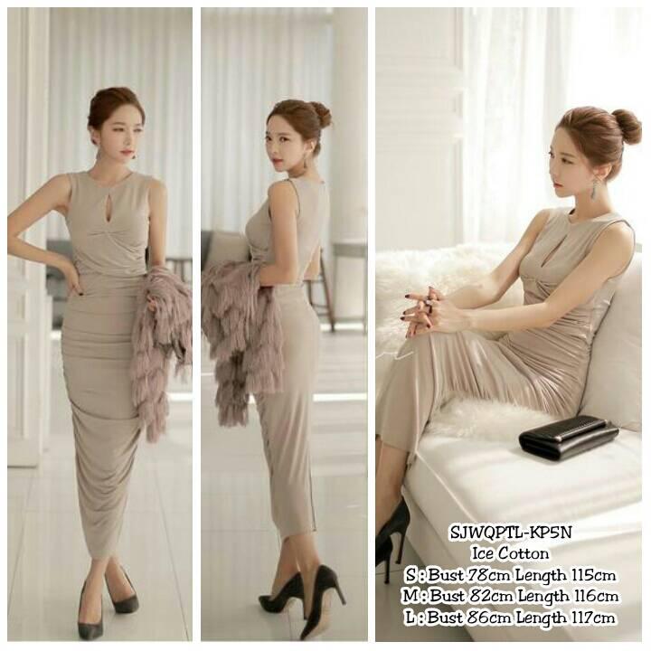 Long Dress Pesta Simple Gamis Brokat