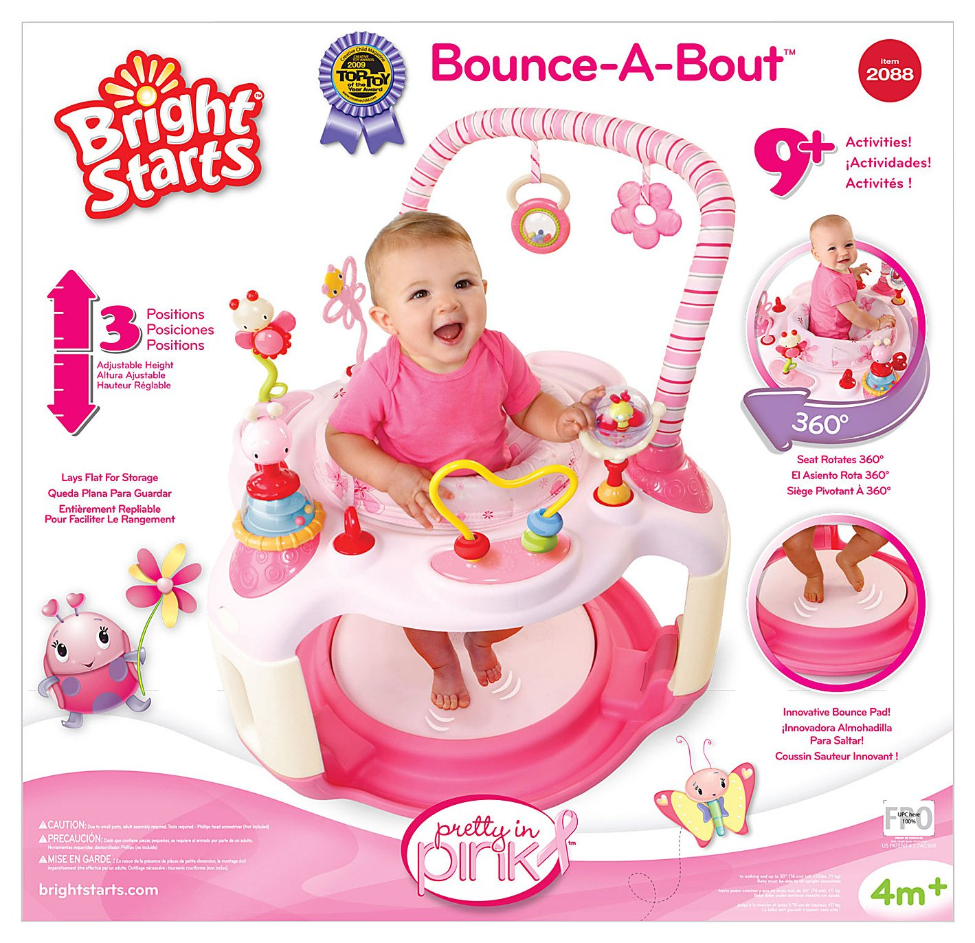 172fe3216bc4 Bright Starts Jumperoo Pink - All About Of Pink