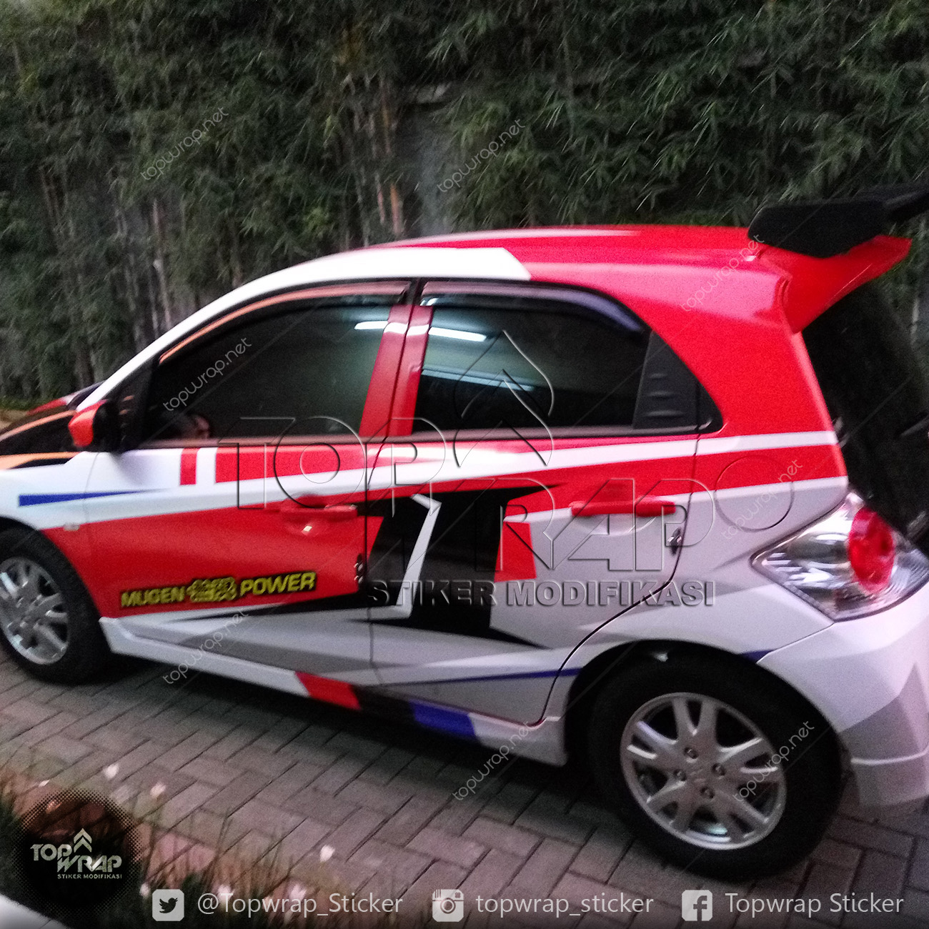 Koleksi Modifikasi Cutting Sticker Mobil Honda Brio ...