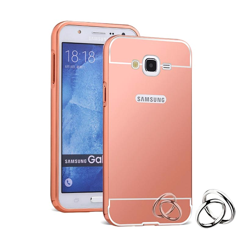 Jual Bumper Mirror For Samsung J2 Rose Gold