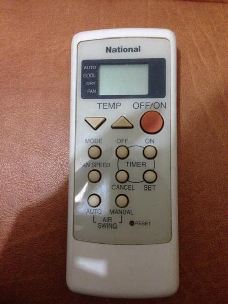 Jual Remote AC Untuk National ORIGINAL Baru | Aksesoris TV Video Ele