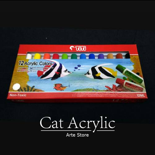 Cat Acrylic Set 12 Warna