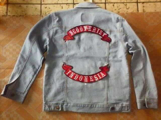jual jaket jeans scooterist indonesia /vespa/piaggio - la una