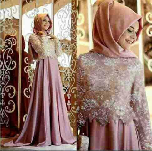 Hijab Brukat pink