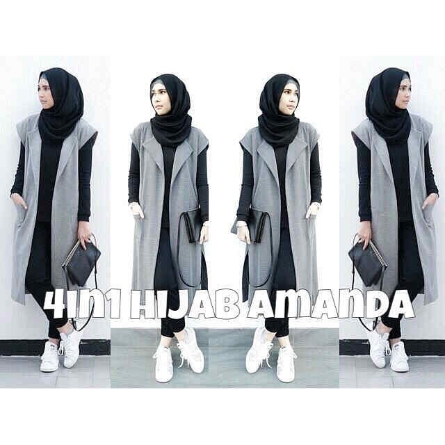 4 in 1 Hijab Amanda (phasmina + Long Vest + Inner + Leging)