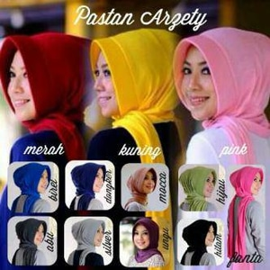 Hijab Jilbab Pasmina Instan Pashtan / Pashmina Instant Arzety
