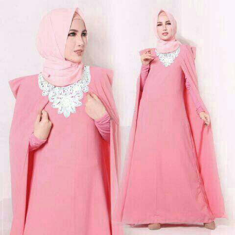 Theresia Cape Hijab Pink