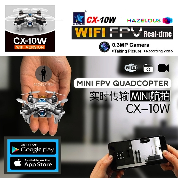 Cheerson CX-10W CX10W Mini Wifi FPV With 720P Camera
