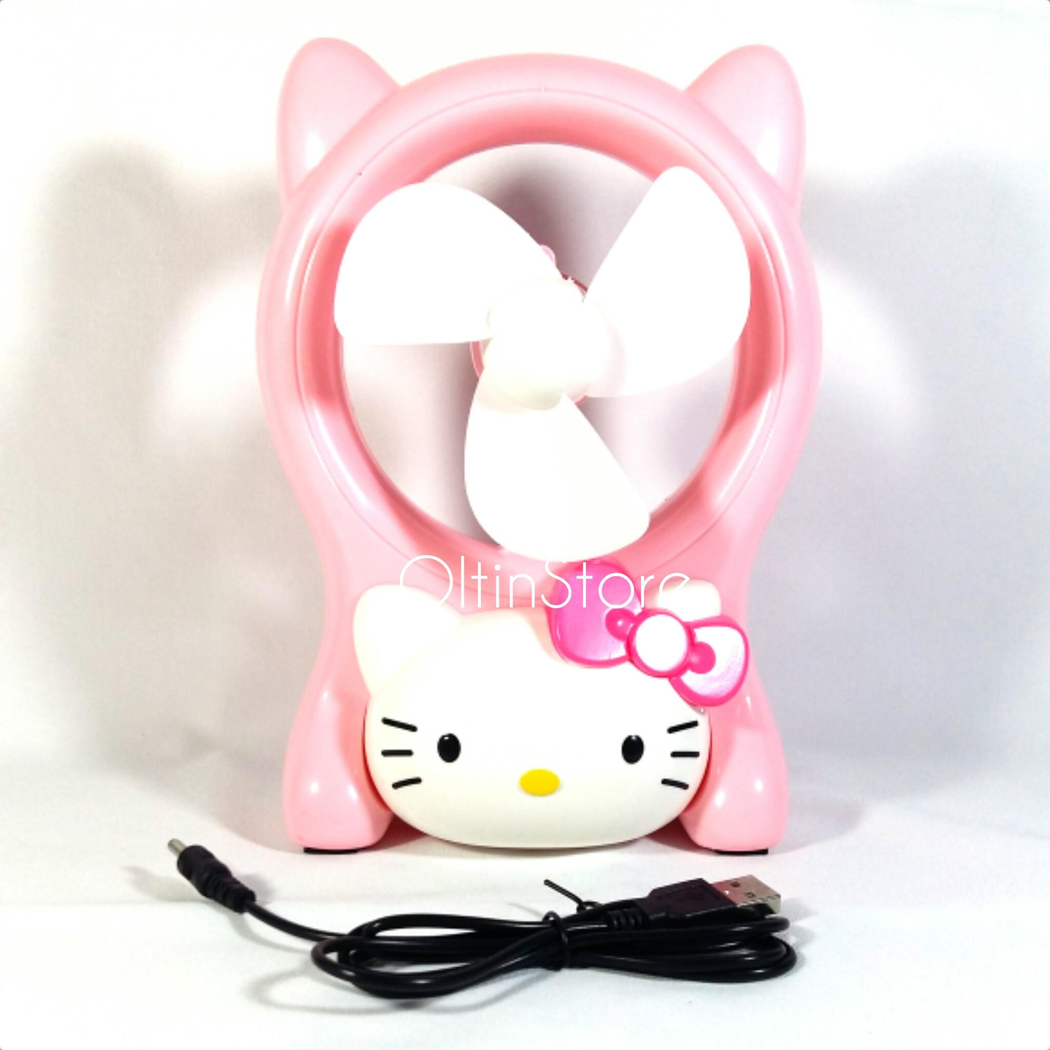 Jual Oltinstore Kipas Angin Mini Portable Usb Hello Kitty Fan Oltinestore Tokopedia