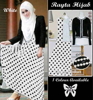S Rayta Hijab putih Maxi