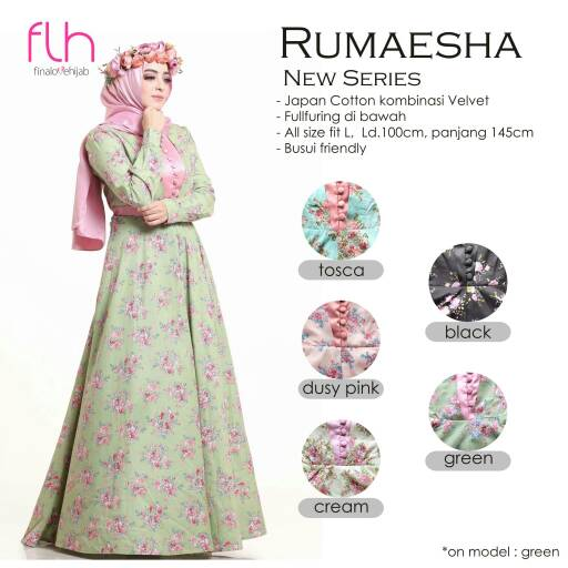 SUPPLIER BAJU HIJAB RUMAESHA NEW SERIES FLH