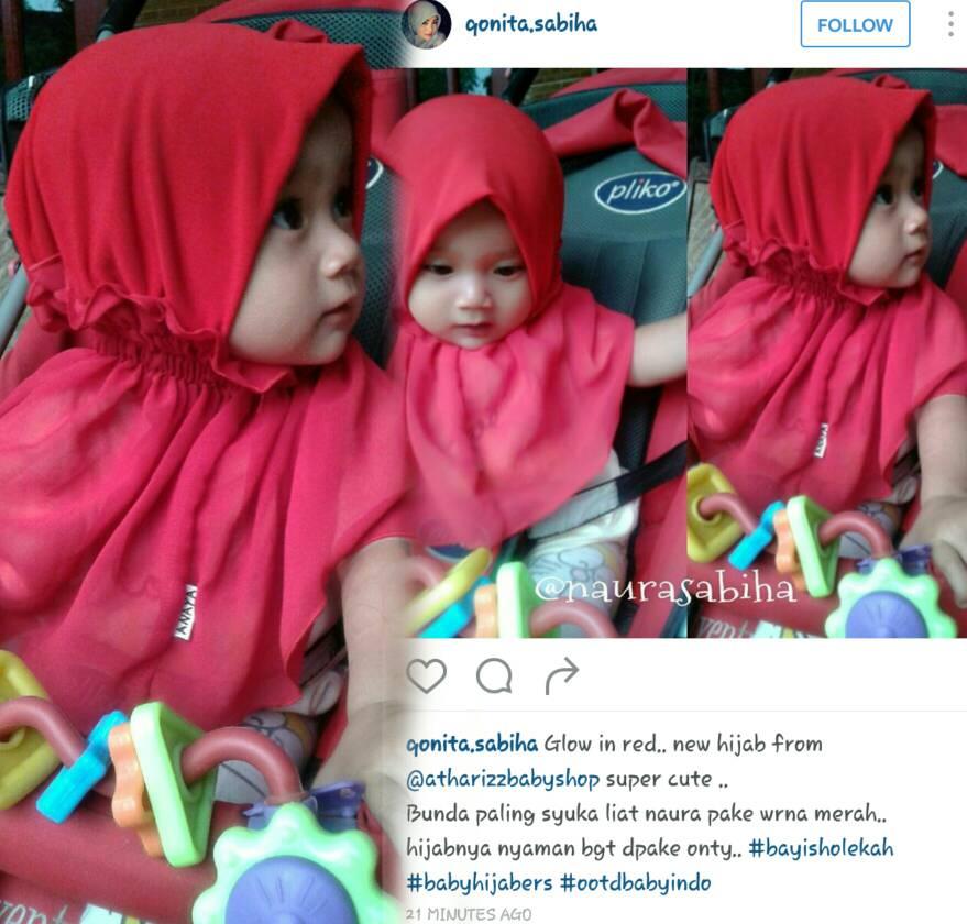 Hijab Baby Anaya Kerut Polos (Size L)