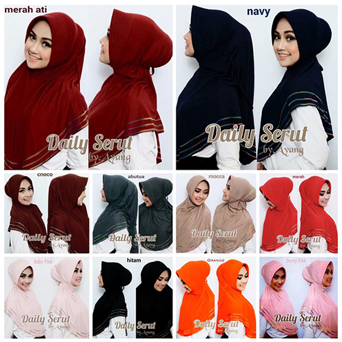 Hijab/Jilbab Daily Overdeck