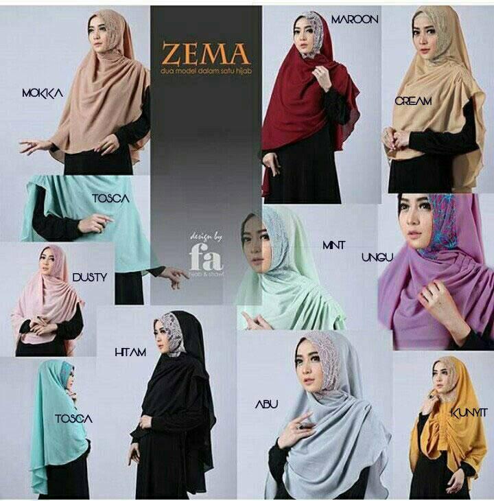 Zzema - All color Zema kerudung khimar hijab