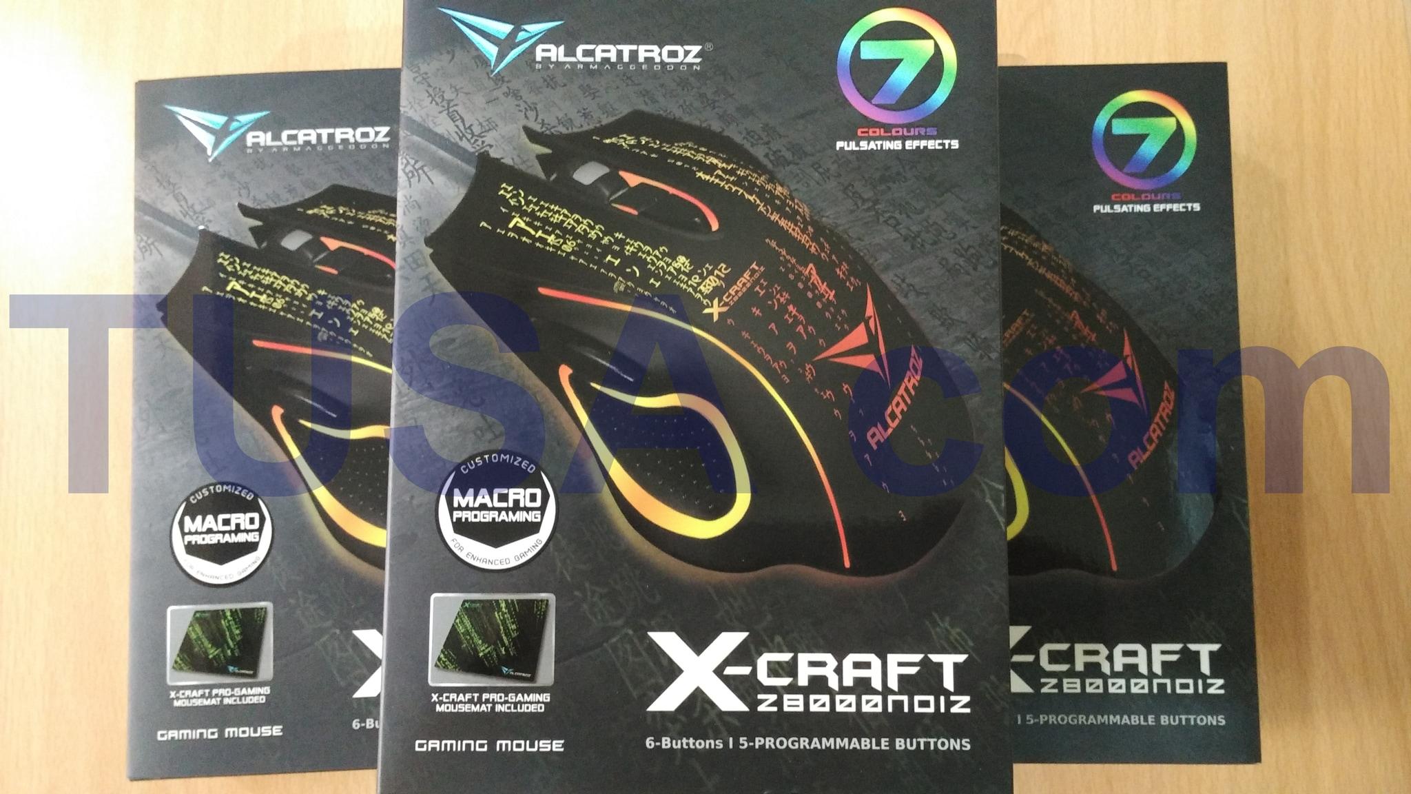 Mouse Gaming Macro Alcatroz X Craft Xcraft 8000 Noiz MURAH Original