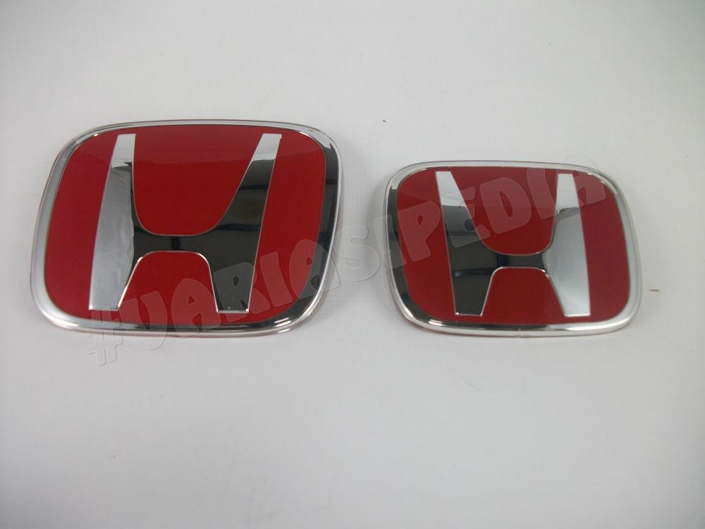 Emblem Logo Paket Honda Merah New Jazz ORI Depan Belakang