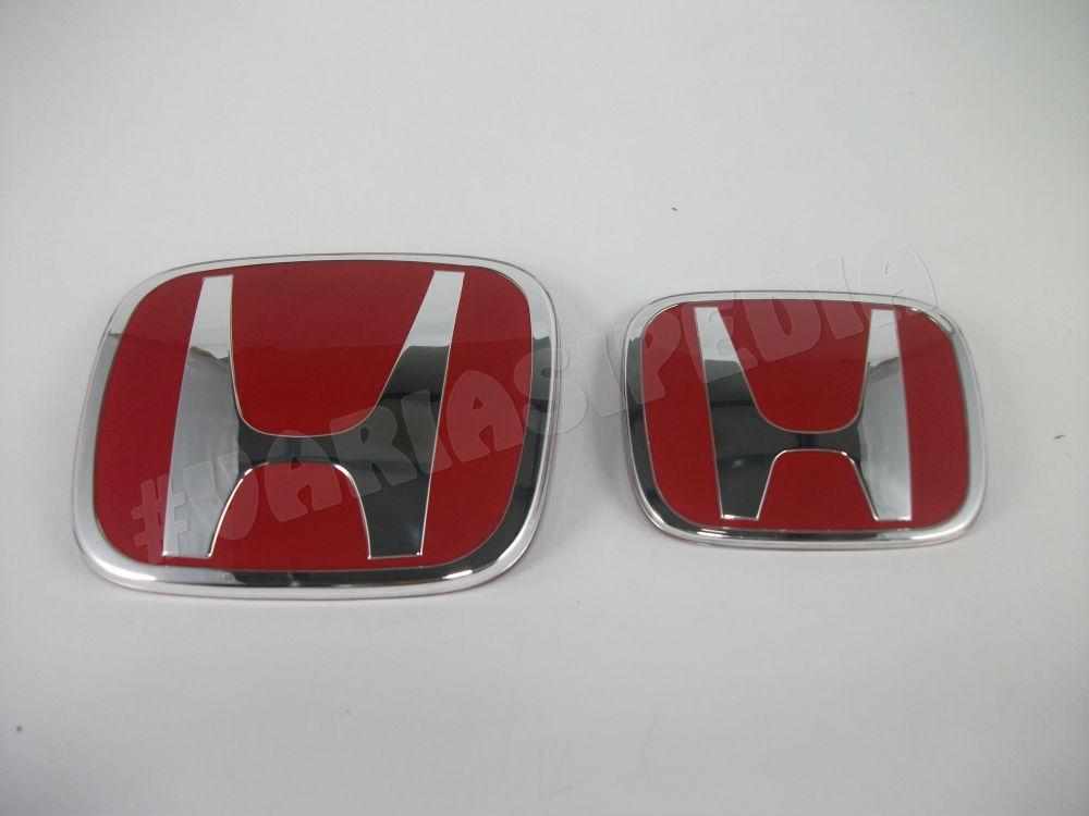 Emblem Logo Paket Honda Merah All New Jazz 2 ORI Depan Belakang