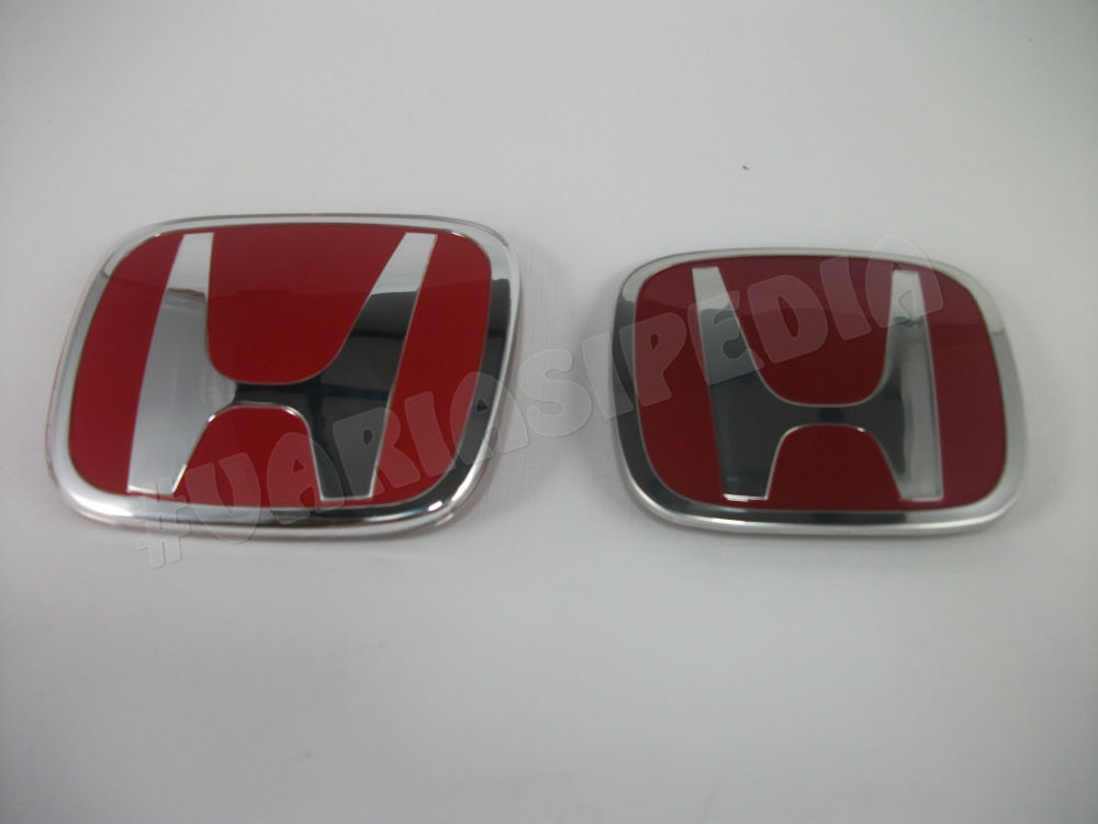 Emblem Logo Paket Honda Merah Jazz ORI Depan Belakang