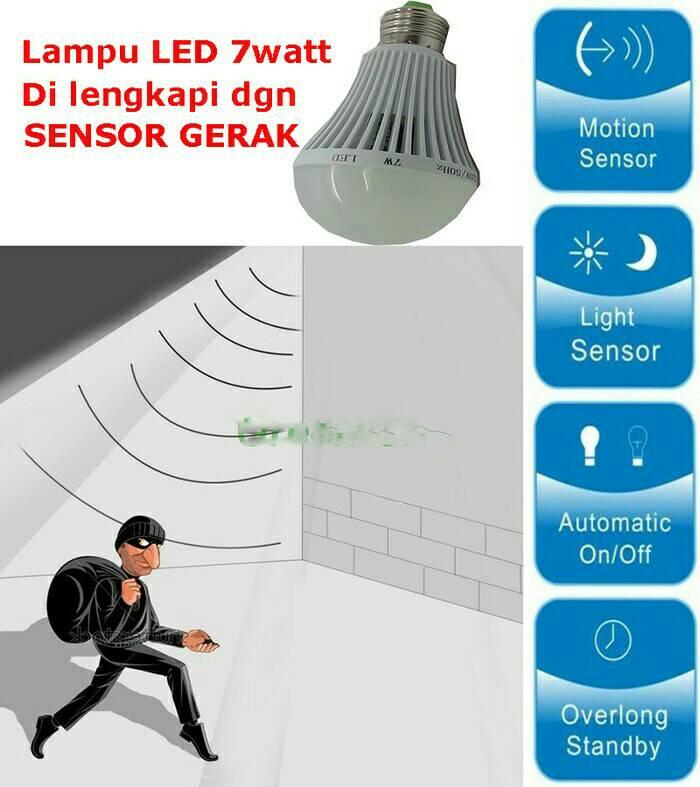 Bohlam Led Sensor Gerak 7W (MS - 1307) - Blanja.com